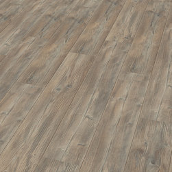 """HDM Flooring - Elesgo Antique pine  Laminate Flooring - Room length floorboards always offer something lavish, something """"whole"""". This expression is easily created with the softly rounded longitudinal edges - after installation the short edges are barely visible. The installation is as easy as pie, the result however looks like real precision craftmanship."""