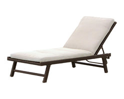 Great Deal Furniture - Florida Adjustable Chaise Lounge with Cushion - Add some stylish comfort to your patio decor with our Florida Adjustable Chaise Lounge. This lounge is weather resistant and has an adjustable back. The included light beige cushion will make it a favorite for lying by the pool or sunbathing on the patio.