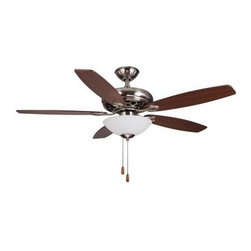 Hampton Bay - Indoor Ceiling Fans and Light: Hampton Bay 52 in. Chamblee Brushed Nickel Indoor - Shop for Lighting & Fans at The Home Depot. This Hampton Bay 52 in. Chamblee ceiling fan offers a traditional look and finish to complete your room decor. Included in this fan is an attachable light kit with energy efficient compact fluorescent bulbs.