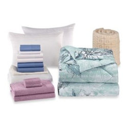 Bed Bath & Beyond Service - Melora 17-Piece Basic Dorm Room Kit - The Melora basic dorm room kit includes all the bedding you need to make your dorm room just as cozy as home. It features a reversible comforter, pillow, sheet sets, mattress pad, towels, and more.
