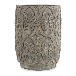 iMax - Chapman Large Flower Pot - With beautiful decorative embellishments, the large Chapman Flower pot enhances any flowering plant or green foliage.