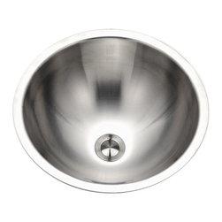 Houzer - Houzer CR-1620 Lavatory Conical Bowl Undermount Sink - Houzer Stainless Steel bathroom sink Opus Conical Undermount 18 gauge Lavatory Bowl.