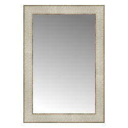 """Posters 2 Prints, LLC - 14"""" x 20"""" Libretto Antique Silver Custom Framed Mirror - 14"""" x 20"""" Custom Framed Mirror made by Posters 2 Prints. Standard glass with unrivaled selection of crafted mirror frames.  Protected with category II safety backing to keep glass fragments together should the mirror be accidentally broken.  Safe arrival guaranteed.  Made in the United States of America"""