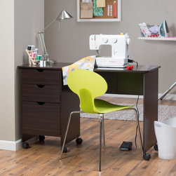 Belham Living - Beldin Mobile Sewing Desk - Espresso Dark Brown - 98119RVESP-01-KD-U-NEW ORIENTA - Shop for Sewing Tables and Cabinets from Hayneedle.com! The Beldin Mobile Sewing Desk - Espresso doesn't take up a lot of room but it makes a huge difference in your sewing area. This desk offers ample work and storage space and the folds up itself to quickly get out of the way. In rich espresso melamine finish it looks great with other furniture pieces and remains quite easy to clean. There are three storage drawers for thread scissors patterns pins and more. When you're done working stash your sewing machine in a closet and lower the work table - folded up it's about the size of the drawer cabinet. This desk sits on 5 easy-rolling caster wheels. Additional features: Open dimensions: 47W x 19D x 30H inches Closed dimensions: 19W x 19D x 30H inches Top 2 drawers dimensions: 13.75W x 11.5D x 4H inches Bottom drawer dimensions: 13.75W x 11.5D x 9H inches About Belham LivingBelham Living builds catalog-quality furniture in traditional styles at a price that actually makes sense. By listening to our customers and working closely with great manufacturers we build beautiful pieces worthy of your home. Rich wood finishes attention to detail and stylish lines that tie everything together are some of the hallmarks of a Belham Living piece. From the living room or bedroom through the kitchen and out onto the deck there's something from an incredible Belham collection perfect for your style.