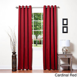 None - Grommet Top Thermal Insulated 95 inch Blackout Curtain Panel Pair - This stylish insulated blackout curtain panel features an elegant and innovative construction that adds a modern feel to any home. This stylish curtain is proven to block out 99.9-percent of light to keep your room as dim as you want it to be.