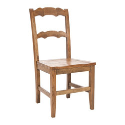 Safavieh - Safavieh Beecher Side Chair in Medium Oak, Set of 2 - Crafted from solid elm wood and finished in a rustic hickory finish, the Beecher side chair has a great modern farmhouse look that is equally at home in country or city homes. With its simple but sturdy design, the Beecher side chair is the ideal choice for casual, carefree dining. No assembly required. What's included: Side Chair (2).