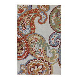 "American Rug Craftsmen - Concord Paisley Escape Multi Floral 3'4"" x 5' American Rug Craftsmen (11796) - Our Concord Collection is reminiscent of the global tradition of hand hooked craftsmanship. The collection features a textured feel that reflects its historical inspiration. Bold colors and fashionable designs set this group of rugs apart. Printed on the same machines that manufacture one of the world"