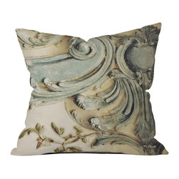 DENY Designs - Happee Monkee Versailles Bluelace Outdoor Throw Pillow - Do you hear that noise? it's your outdoor area begging for a facelift and what better way to turn up the chic than with our outdoor throw pillow collection? Made from water and mildew proof woven polyester, our indoor/outdoor throw pillow is the perfect way to add some vibrance and character to your boring outdoor furniture while giving the rain a run for its money.
