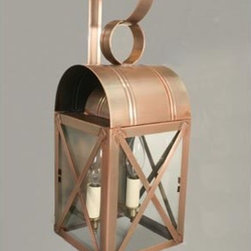 Northeast Lantern - Adams Antique Copper Two-Light Outdoor Wall Light with Clear Glass - -Clear Glass  -Northeast Lantern offers a distinctive collection of early American and Colonial reproduction lighting that is hand crafted in New Hampshire for a lifetime of beauty.  -The fixtures are made of solid brass and copper. They  are cut, fitted, soldered, finished, and wired by hand in New Hampshire. Northeast Lantern - 6031-AC-LT2-CLR