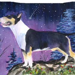 Caroline's Treasures - Bull Terrier Fabric Standard Pillowcase Moisture Wicking Material - Standard White on back with artwork on the front of the pillowcase, 20.5 in w x 30 in. Nice jersy knit Moisture wicking material that wicks the moisture away from the head like a sports fabric (similar to Nike or Under Armour), breathable performance fabric makes for a nice sleeping experience and shows quality. Wash cold and dry medium. Fabric even gets softer as you wash it. No ironing required.