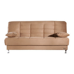 Istikbal - Vegas Rainbow Brown Convertible Sofa Sleeper - Useful and stylish Vegas Rainbow Brown Convertible Sofa Bed provides superior comfort for you and your guests. Vegas sofa bed will easily create a full style of living room group for your home. This sofa features the under-seat storage space and can be converted from a sitting position to a bed.