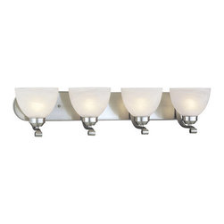 Minka Lavery - Minka Lavery ML 5424-PL 4 Light Energy Star Bathroom Vanity Light with Fluoresce - Four Light Energy Star Bathroom Vanity Light with Fluorescent Lamping from the Paradox CollectionFeatures: