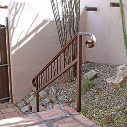 Custom Iron Railing by First Impression Security Doors - First Impression Security Doors creates amazing railings and staircases.