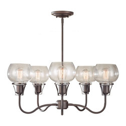 Murray Feiss - Murray Feiss F2824/5RI Urban Renewal 5 Bulb Rustic Iron Chandelier - Murray Feiss F2824/5RI Urban Renewal 5 Bulb Rustic Iron Chandelier