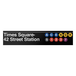 Underground Signs - Times Square- 42 Street, Metal Sign - When considered together with 42nd Street- Port Authority Bus Terminal, Times Square-42 Street station is the busiest complex in the system, serving 60,604,822 passengers in 2011. Sign is made to order, lead time 1-3 weeks.