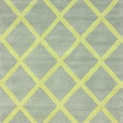 Nu Loom - Contemporary Modella 5'x8' Rectangle Baby Yellow Area Rug - The Modella area rug Collection offers an affordable assortment of Contemporary stylings. Modella features a blend of natural Baby Yellow color. Hand Tufted of 100% Wool the Modella Collection is an intriguing compliment to any decor.