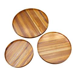 Bahari - Teak Round Tray - Teak Wood Round Tray