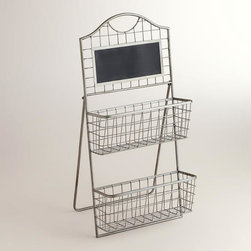 Aaron 2-Tier Stand with Chalkboard -