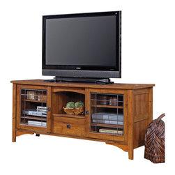 Sauder - Sauder Rose Valley Entertainment TV Stand in Abbey Oak - Sauder - TV Stands - 404867 -