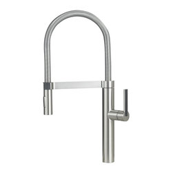 Blanco - BLANCO 441332 CULINA Satin Nickel Semi-Professional Kitchen Faucet - Our new BLANCO CULINA Semi-Professional design combines high performance with high style. Notice the sleek closed coil, the streamlined handle inlay, and the magnetic spray holder - just a few of the details sure to add surprise and delight.