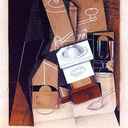 """Juan Gris The Coffee Grinder - 16"""" x 20"""" Premium Archival Print - 16"""" x 20"""" Juan Gris The Coffee Grinder premium archival print reproduced to meet museum quality standards. Our museum quality archival prints are produced using high-precision print technology for a more accurate reproduction printed on high quality, heavyweight matte presentation paper with fade-resistant, archival inks. Our progressive business model allows us to offer works of art to you at the best wholesale pricing, significantly less than art gallery prices, affordable to all. This line of artwork is produced with extra white border space (if you choose to have it framed, for your framer to work with to frame properly or utilize a larger mat and/or frame).  We present a comprehensive collection of exceptional art reproductions byJuan Gris."""