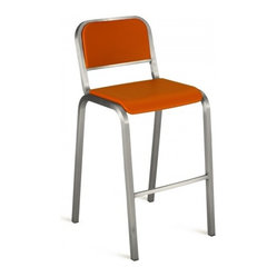 Nine-0 Stacking Bar Stool, Soft Back