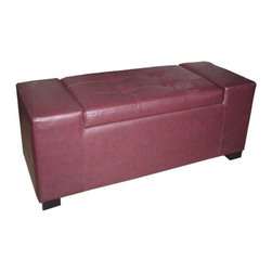 Ore International - ORE International Rectangular Storage Bench - Unique Red Multicolor - HB4275 - Shop for Benches from Hayneedle.com! We've come a long way since the days of contemporary designs that were built only for show and we've got the ORE International Rectangular Storage Bench - Unique Red to prove it. This practical and elegant bench offers a supple skin of maroon leather over thick foam cushioning wrapped around an internal frame of wood and metal that's built for everyday use. The smooth-opening lid reveals 2.5 cubic feet of interior storage space giving you plenty of room for books blankets or anything else that you need to have right at hand.About Ore International Inc.Ore International Inc. creates beautiful accent furniture lighting and gifts for the home. Their goal is to be the leading provider of innovative superior home products worldwide. Ore International is based in Santa Fe Springs California and has a Customer First attitude. Their products are designed to match modern and classic tastes and fit today's homes. From room dividers to lamps end tables to entertainment centers you'll discover quality craftsmanship at a fair price in all Ore International products.
