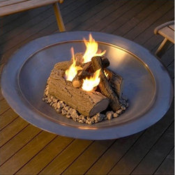 "Real Flame - 4-Can Outdoor Fire Pit - This log set is made of concrete and steel. It will add the perfect touch to your yard. This log set is perfect for any outdoor setting. Features: -Distressed: Yes.-Finish: Oak.-Powder Coated Finish: No.-Gloss Finish: No.-Material: Cast concrete and powder-coated steel base.-Hardware Material: Black phosphate.-Tabletop Fireplace: No.-Fuel Type: Gel.-Fuel Included: No.-Fuel Tank Capacity: Uses 4 - 13 oz cans of Real Flame gel fuel.-Burn Time of Fuel Accommodated: 2-3 hours.-Gas Conversion Feature: No.-Adjustable Flame: No.-Plug In: No.-BTU Output: 12,000 BTU's.-Vent: No.-Spill Proof: Yes.-Fire Bowl Filler Included: Includes lava rock and lift tool.-Folding: No.-Heat Resistant Coating: Yes.-UV Protected: No.-Rust Resistant: No.-Fade Resistant: Yes.-Weather Resistant or Weatherproof: Yes.-Suitable For Use On Wooden Surface: No.-Log Grate Included: No.-Spark Screen Included: No.-Snuffer Included: No.-Fire Poker Included: No.-Safety Ring: No.-Built in Cooking Area: No.-Handles: No.-Portable: Yes.-Lid Included: No.-Cover Included: No.-Compatibility: Real Flame gel fuel, Real Flame wood-burning fire pits.-Swatch Available: No.-Commercial Use: Yes.-Recycled Content: No.-Eco-Friendly: No.Specifications: -CSA Certified: No.Dimensions: -Overall Product Weight: 23 lbs.-Overall Height - Top to Bottom: 9.5"".-Overall Width - Side to Side: 16.5"".-Overall Depth - Front to Back: 16.5"".Assembly: -Assembly Required: Yes.-Tools Needed: Phillips head screwdriver.-Additional Parts Required: No.Warranty: -Product Warranty: 90 day manufacturer's warranty."