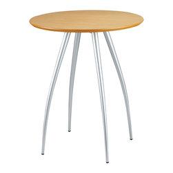 Adesso - Adesso WK2880-12 Cafe Bistro Table Natural/Stel - Adesso WK2880-12 Cafe Bistro Table Natural/Stel