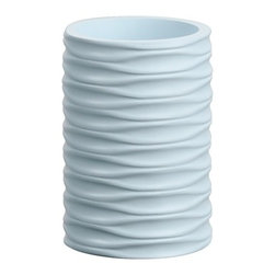 Gedy - Round Ivory, Aquamarine, or Sky Blue Toothbrush Holder - A designer toothbrush holder for your designer-quality master bath. Available in ivory, aquamarine, or sky blue and made in cromall, this the highest quality tumbler/toothbrush holder is imported from and manufactured in in Italy by Gedy and is part of the Gedy Ortensia collection. Consider this round free stand toothbrush holder. Gedy free stand tumbler/toothbrush holder. From the Ortensia collection. Designer-Quality & luxurious, made in cromall and coated in ivory, aquamarine, or sky blue. Imported from and manufactured in Italy.