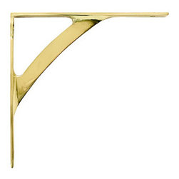 Polished Brass Shelf Bracket - I have to have a little gold in my life, and these brackets are sure to add some glam.