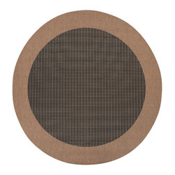"""Couristan - Recife Checkered Field Rug 1005/2000 - 7'6"""" x 7'6"""" Round - These weather-defying area rugs are suitable for indoor and outdoor use. You'll love the way they color-coordinate with today's most popular outdoor furniture pieces. The collection's naturally inspired color palette will provide a warmer and more inviting appearance for patio decks and stone entryways."""