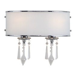 Golden Lighting - Golden Lighting 8981-BA2-BRI Echelon 2 Light Bathroom Vanity Light, Chrome - Echelon BRI 2 Light Vanity in the Chrome finish
