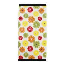 Citrus Beach Towel - Citrus prints scream summertime! These can go with so many different styles of homes, so you won't have to change your whole theme to add in some summer flair.