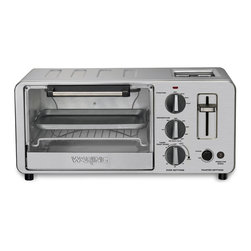 Waring - Waring WTO150 4-Slice Built-In 2-Slice Toaster Oven - This versatile oven/toaster makes it easier than ever to bake, broil or toast. With this toaster oven, you can even bake or broil and toast at the same time. Toast 4 slices in the oven, and 2 slices in the slots on top.
