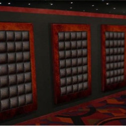 Decorative leather finish wall panels home theater - Very nice hand crafted  Acoustic Wall panels for home theaters.  We can custom made all these panles to match and fit perfactly.
