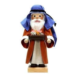 "Alexander Taron - Christian Ulbricht Nutcracker - Noah - Ltd Edition 1000 Pcs - 17""H x 7""W x 6.5""D - Christian Ulbricht Nutcracker - Noah crafted a small arc for the miniature animals - Limited Edition 1000 pieces - Made in Germany."