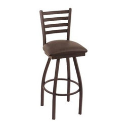 Holland 30 in. Cambridge Ladderback Bar Stool - Black Wrinkle Finish - Black Vin - For those of us who understand that taste transcends the table, the Holland 30 in. Cambridge Ladderback Bar Stool - Black Wrinkle Finish - Black Vinyl Seat has you covered for breakfast, lunch, dinner, and all the in-betweens. A modern piece that's great for transitional and urban decors, this stylish piece features a comfortable, durable vinyl seat and solidly welded metal frame. Because we all know the meal starts before the food is served. Please note: This item is not intended for commercial use. Warranty applies to residential use only.About Holland Bar StoolsWith over 25 years of experience in the commercial furniture industry, Cambridge Stool Co. was founded on the principles of fine quality, craftsmanship, and service. As an industry leading manufacturer of upscale, commercial quality barstools, tables, and chairs, we use the finest high quality plating grade steel to produce this 30 (bar height) swivel stool to insure a high quality and long lasting finish. Seats are covered in a durable, leather-like vinyl. This stool comes with a 5 year residential warranty that covers any defects in workmanship or materials. There is a Lifetime Warranty on the swivel. Stool Rated for up to 400 lbs. For cleaning, use a damp cloth or Formula 409 cleaner. Do not use abrasive cleaners or strong solvents. Made in the USA.