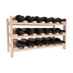 18 Bottle Stackable Wine Rack in Pine with White Wash Stain - Expansion to the next level! Stack these 18 bottle kits as high as the ceiling or place a single one on a counter top. Designed with emphasis on function and flexibility, these DIY wine racks are perfect for young collections and expert connoisseurs.