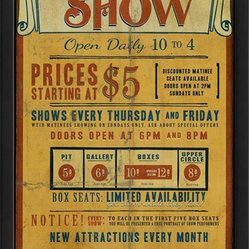 The Artwork Factory - Tickets for the Show Framed Artwork - Make every day a special event in your house when you hang this vintage show print on your wall. It's elegantly framed in black wood and will look oh-so chic in your decor.