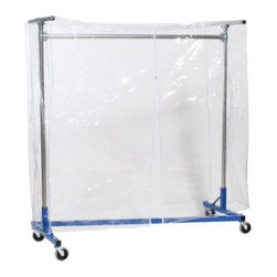 Garment Rack Cover-72 Inches Tall - The Garment Rack Cover by Quality Fabricators is perfect for seasonal storage. This garment cover fits heavy and medium duty Z-Racks. The garment cover is constructed of sturdy clear vinyl plastic with a full-length front zipper. The cover is 72 inches tall to fully protect the rack and contents on the rack.About Quality FabricatorsQuality Fabricators is dedicated to providing the best quality garment racks and accessory products to buyers all over the world. Strength quality and rapid delivery are the hallmarks of Quality Fabricators and their American-made garment racks.