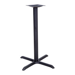 """Flash Furniture - 22"""" x 30"""" Restaurant Table X-Base with 3"""" Bar Height Column - Complete your restaurant, break room or cafeteria with table bases and coordinating table tops. This table base is designed for commercial use so you will be assured it will withstand the daily rigors in the hospitality industry. Whether you are just starting your business or upgrading your furniture this table base will complete the look."""