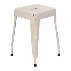 Felix | Tolix Style Tabouret Table Stool - Lightly Distressed