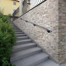 Rustic Staircase by Metro Tiles Geebung