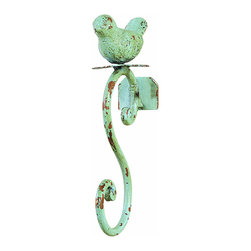Creative Co-op Metal Bird Hook, Blue - I have these exact hooks in my entryway and I love them. They are heavy, well-made and add some whimsy to the foyer.
