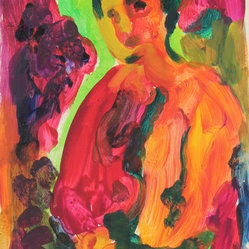 1950-60s Bay Area Figurative Vivid Figure by Alysanne McGaffey