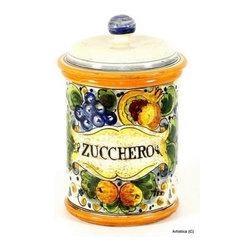 Artistica - Hand Made in Italy - Tuscania: Tuscania Canister 'Zucchero' (Sugar) - Tuscania Collection: