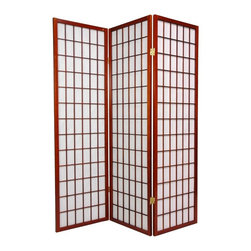 Oriental Unlimited - Window Pane 60 Inch Shoji Room Divider - WP60-BLK-3P - Shop for Room Dividers from Hayneedle.com! The Oriental Unlimited Window Pane 60-Inch Shoji Room Divider is the perfect size for providing the attractive privacy of a traditional Oriental screen without overwhelming the room. Measuring only 5 feet tall this screen is ideal for sheltering a play area or acting as a fireplace screen or simply adding a new design element to your space. The frame is crafted from durable lightweight Scandinavian spruce using Asian-style mortise-and-tenon joinery. The elegant shade is made from strong fiber-reinforced pressed-pulp rice paper which allows diffused light to shine through while providing complete privacy. Lacquered-brass two-way hinges mean you can bend the panels in either direction for versatility. Select from six fine wood finishes and 3- 4- 5- or 6-panel options. Each panel measures 17.5L x 0.75W x 60H inches.Sizes3 Panel - (Approximate) Overall Size Dimensions: 54.5W x .75D x 60H inches4 Panel - (Approximate) Overall Size Dimensions: 73W x .75D x 60H inches5 Panel - (Approximate) Overall Size Dimensions: 91.5W x .75D x 60H inches6 Panel - (Approximate) Overall Size Dimensions: 110W x .75D x 60H inchesIndividual panels are approximately 17.5 inches wide and 60 inches tall.About Oriental FurnitureWhat began in 1985 as a simple retail store in Natick Mass. has now blossomed into Oriental Furniture one of the largest online retailers of Asian furniture gifts and accessories. The company is always combing the globe for beautiful quality products and imports items directly from other countries in order to reduce costs for customers. With a wide variety of products available Oriental Furniture offers distinctive design solutions for the style-minded home decorator.