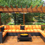 Patio Furniture Deep Seating - Casa Madrid Modular Sectional InsideOut Patio Furniture