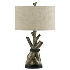 eclectic table lamps by Living in Comfort